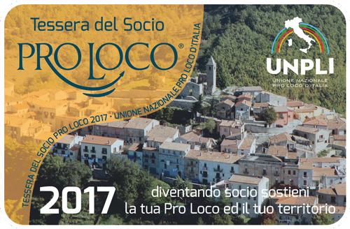 Tessere del Socio Pro Loco 2017